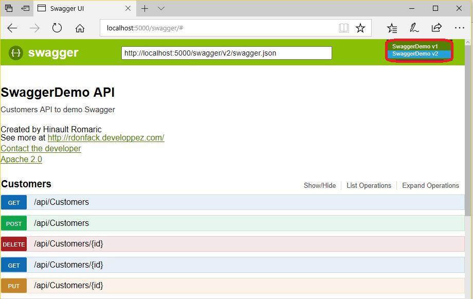 Utiliser Swagger pour documenter une Web API ASP NET